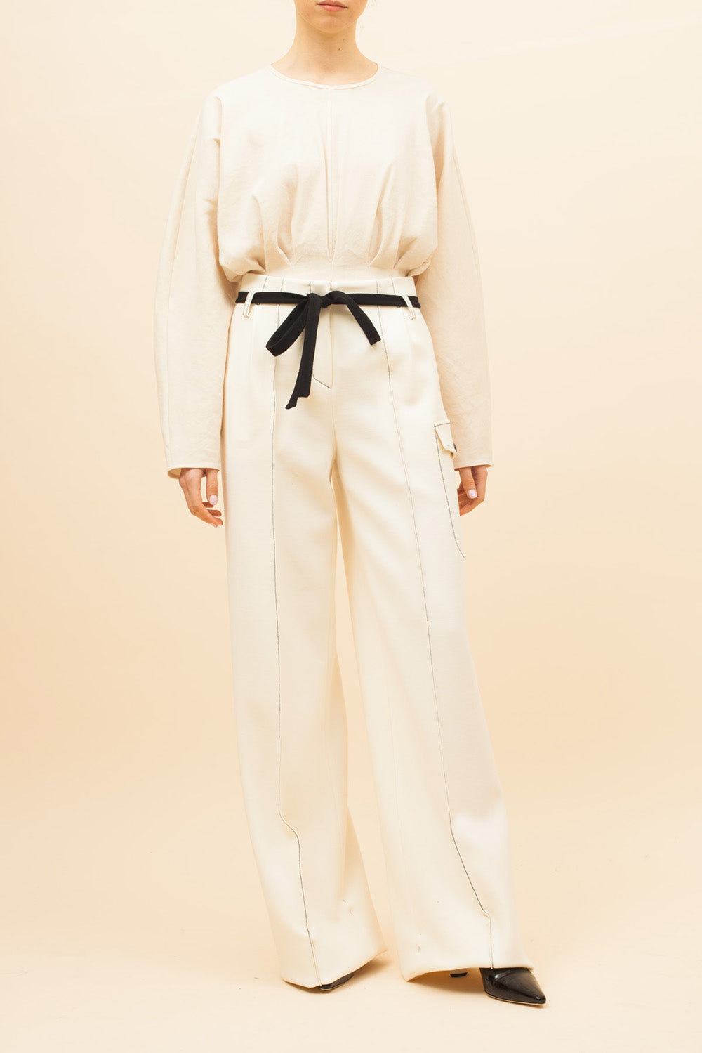 Eve Trousers Wool Ivory - SPECIAL PRICE