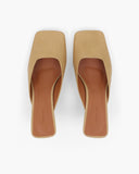 Layla Wedges Leather Camel