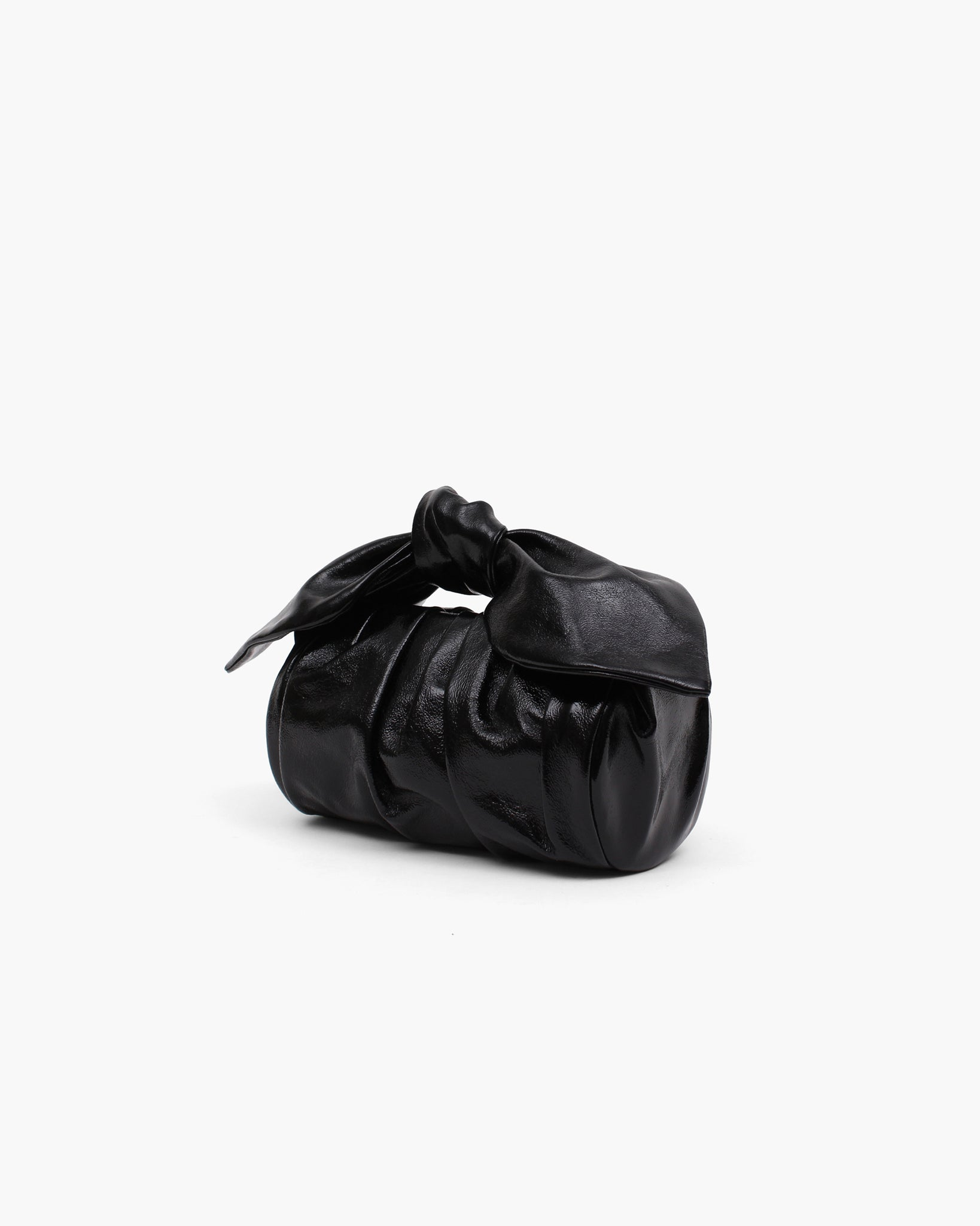 Nane Bag Leather Patent Crinkle Black