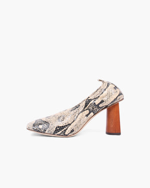 Edie Pumps Leather Print Boa Beige - WEBSHOP EXCLUSIVE