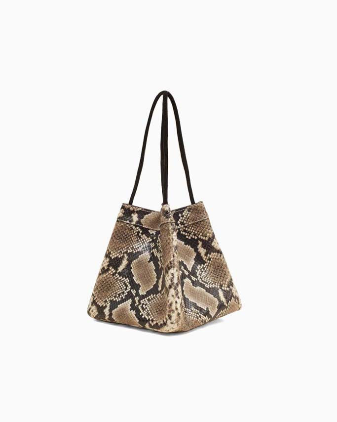Rita Beige Snake Leather Bag