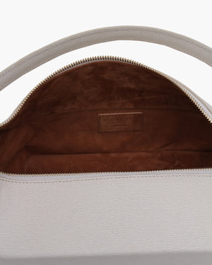 Olivia Bag Leather Texture White