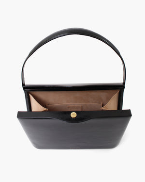 Felix Bag Leather Patent Crinkle Black