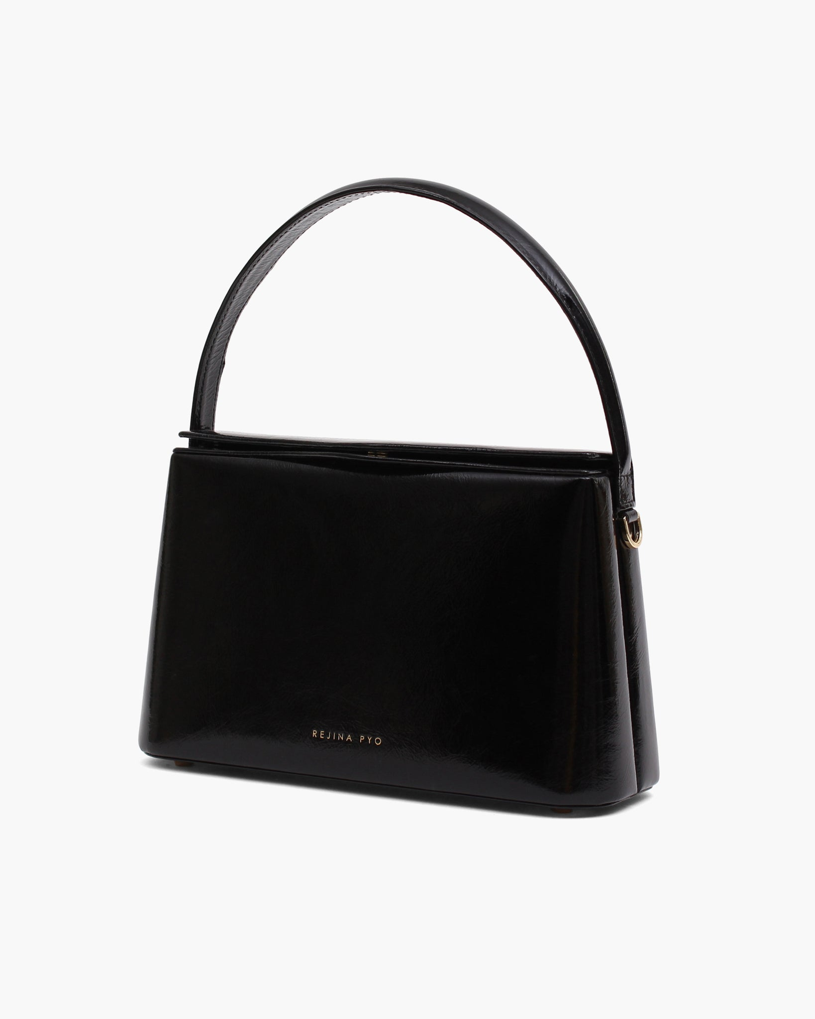Mini Felix Bag Leather Patent Crinkle Black