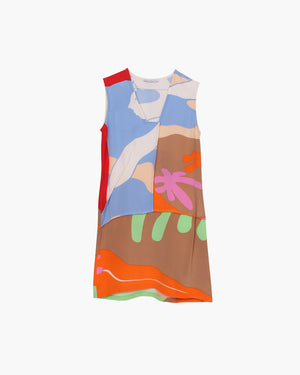 Mattie Dress Multi Beach Scene