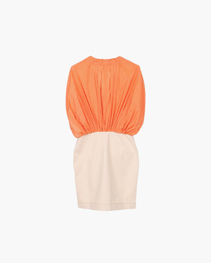 Yana Dress Cotton Orange and Denim Ecru - SPECIAL PRICE