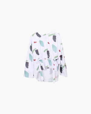 Brooke Blouse Shape Print