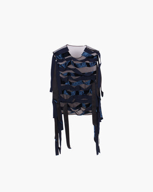 Fiona Top Seaweed Black Navy - SPECIAL PRICE