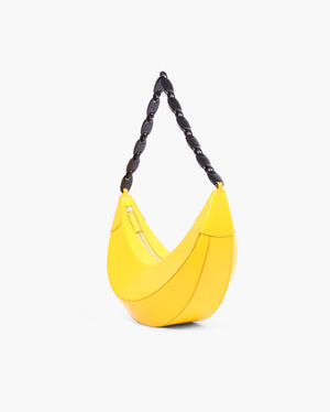 Banana Bag Leather Yellow