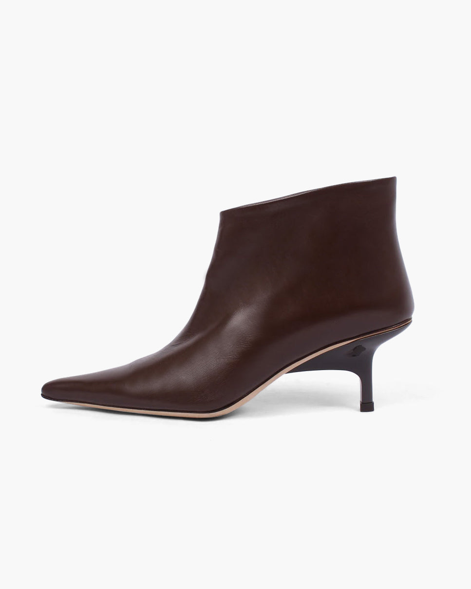 Sara Boot Leather Dark Brown