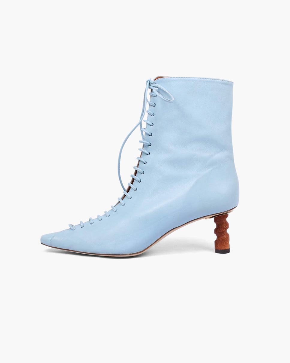 Simone Boot Leather Blue