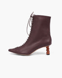 Simone Boot Leather Burgundy