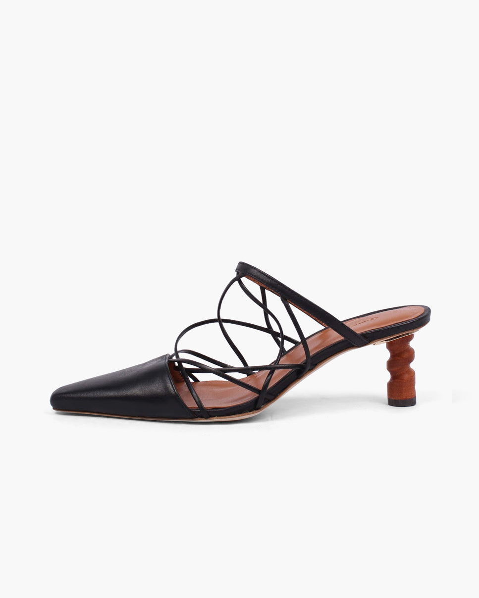 Lisa Mule Leather Black