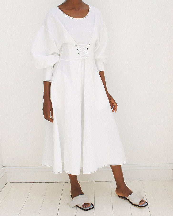 Irene Dress Linen Off-White