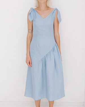 Lily Dress Linen Celeste Blue - SPECIAL PRICE