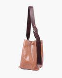 Marlene Bag Leather Emboss Lizard Brown