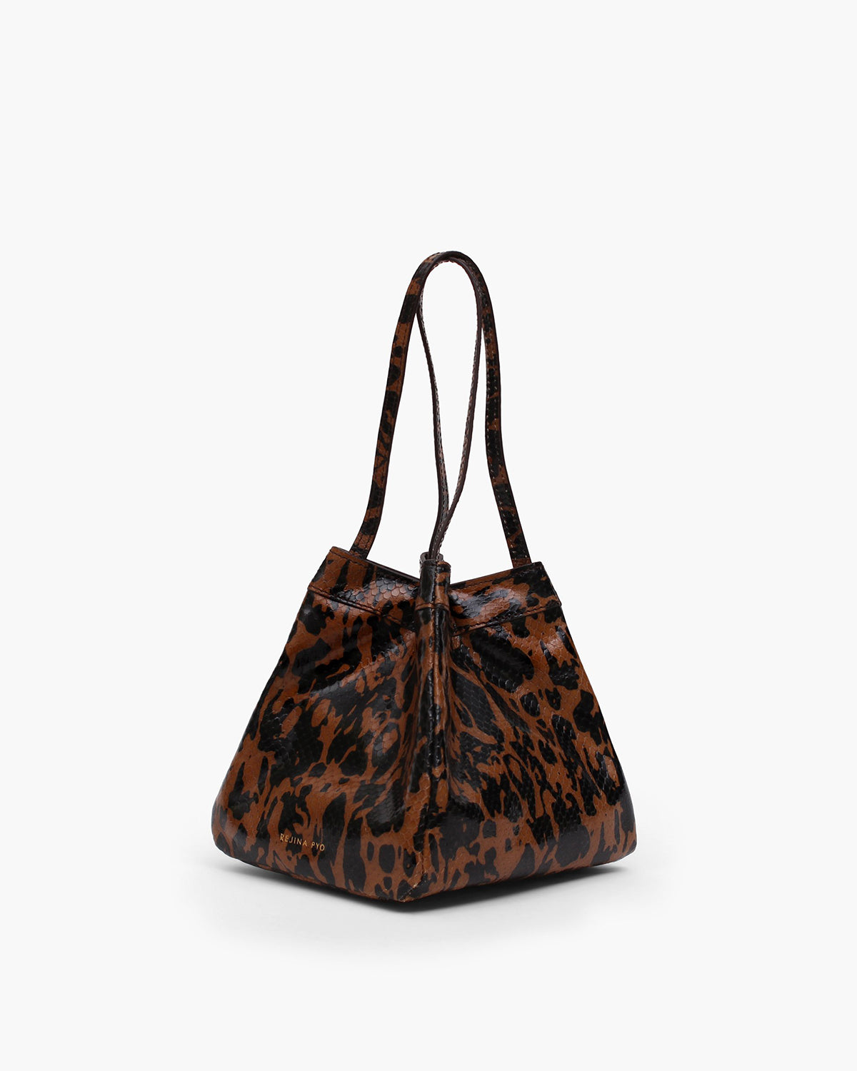 Rita Bag Leather Print Jatai Brown