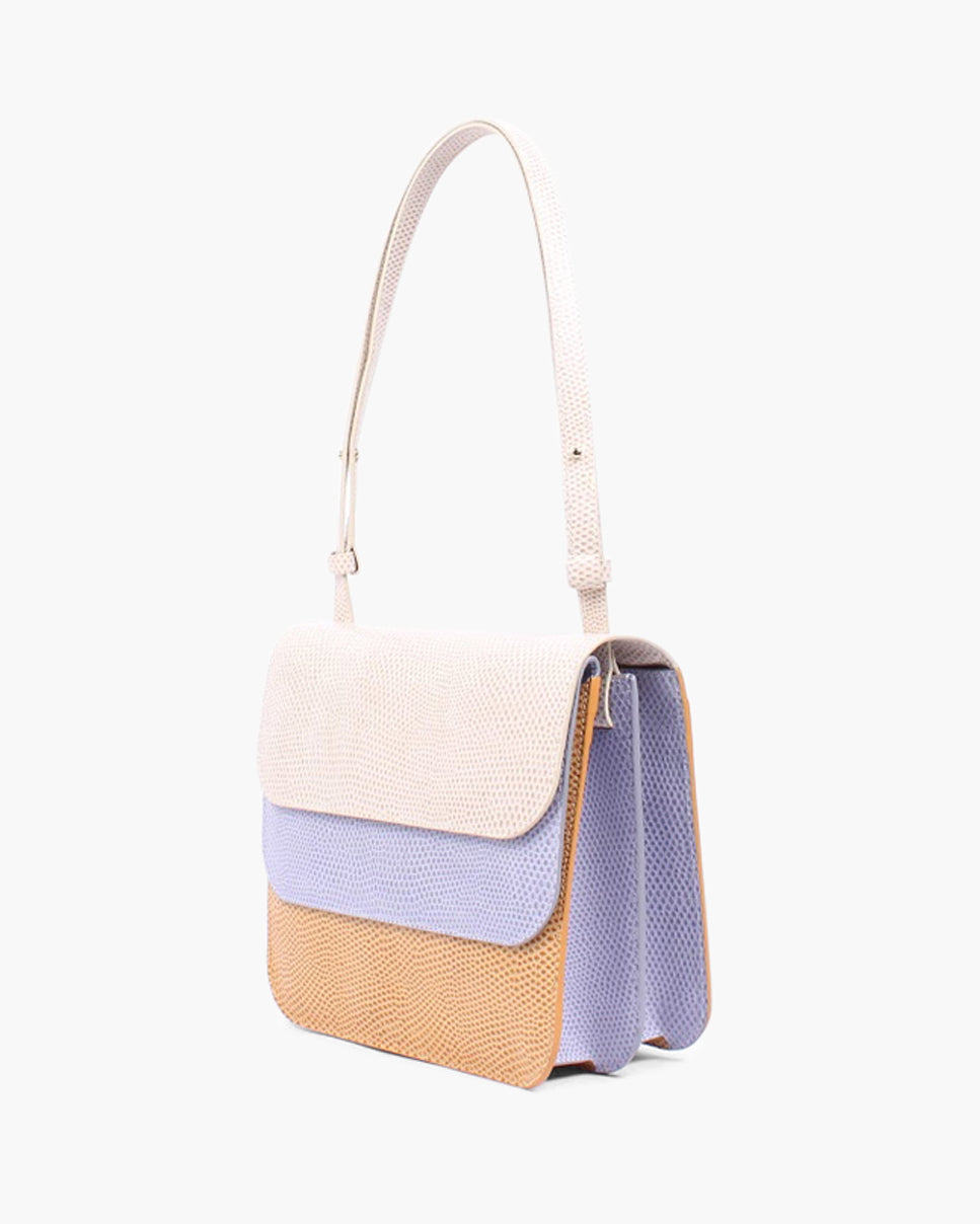 Ana Bag Leather  Lavender Trio