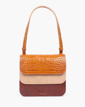 Ana Bag Leather Emboss Tan Trio