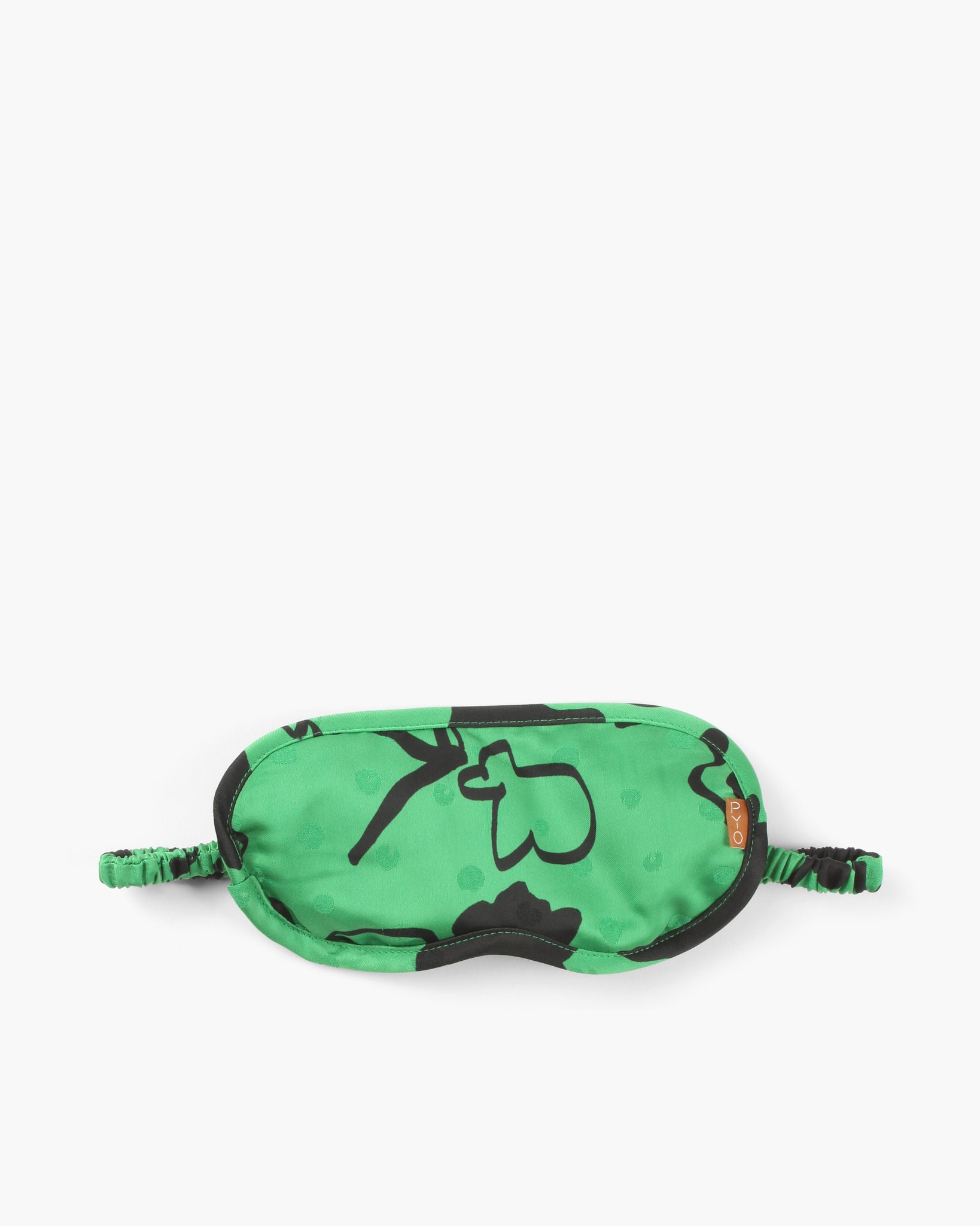 Eye Mask Satin Print Green