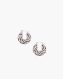 Twist Hoops Silver Plated