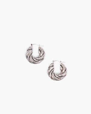 Twist Hoops Silver Plated - SPECIAL PRICE