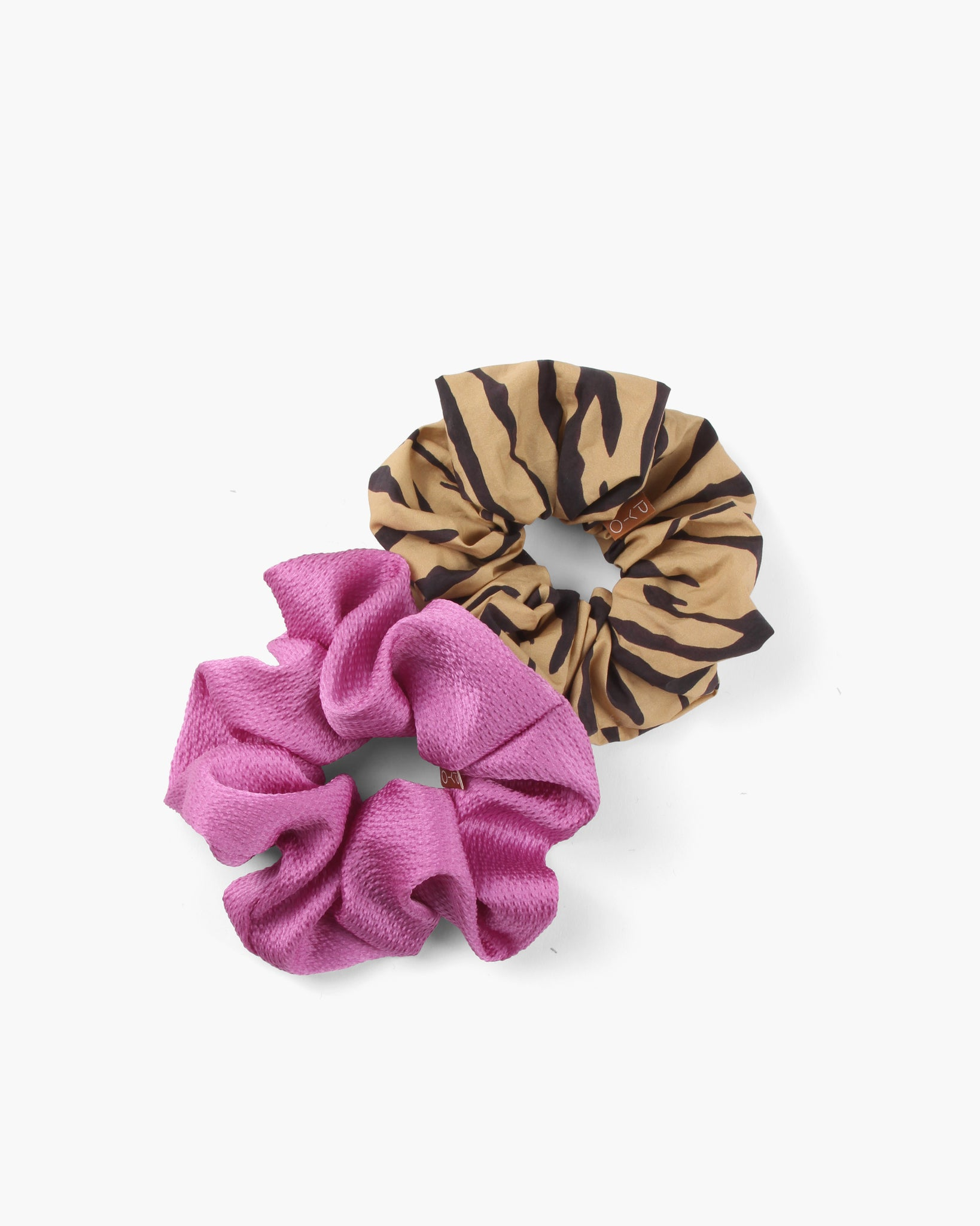 Scrunchie Set Cotton Tiger / Hammered Silk Pink