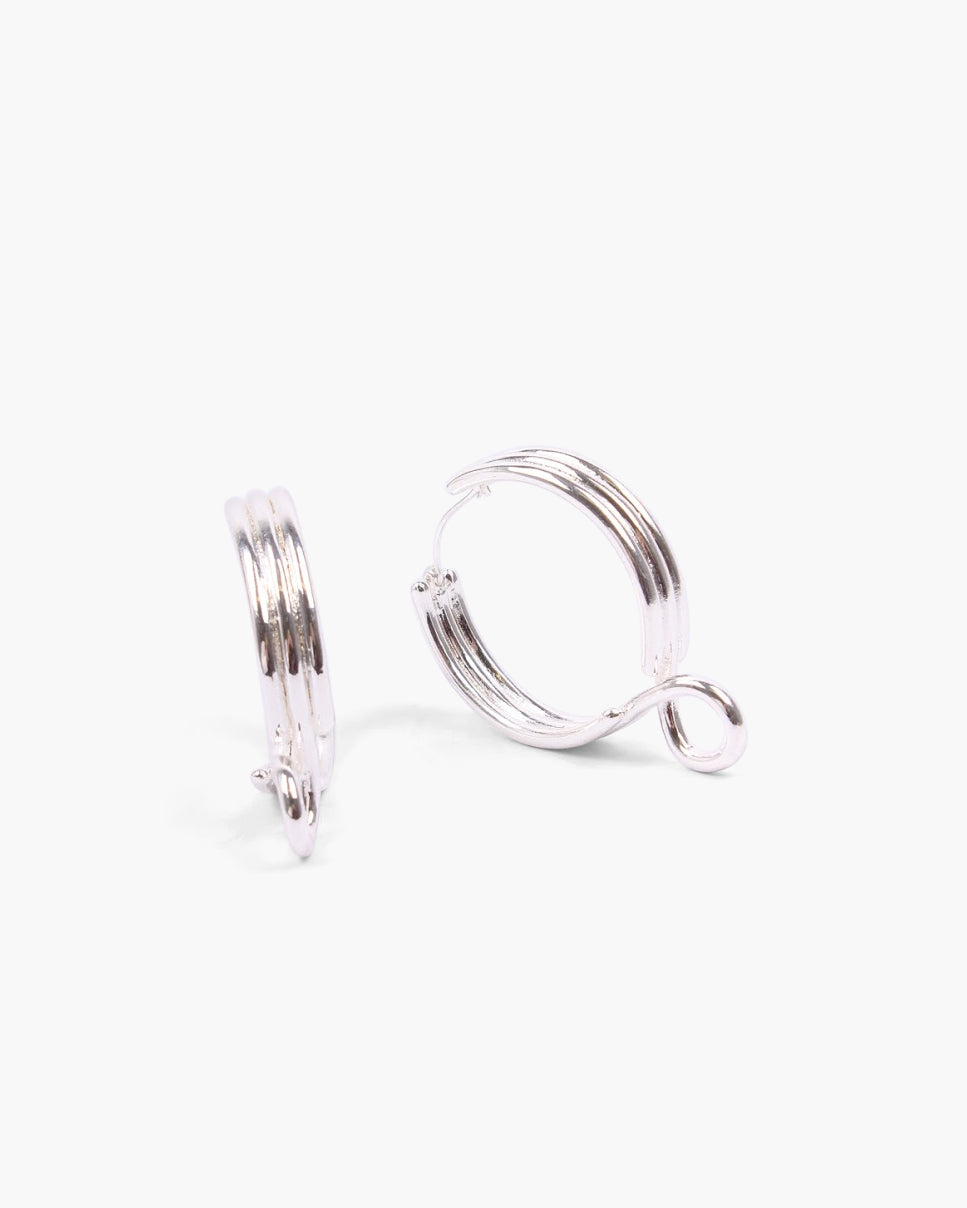 Infinity Earrings Silver Plated