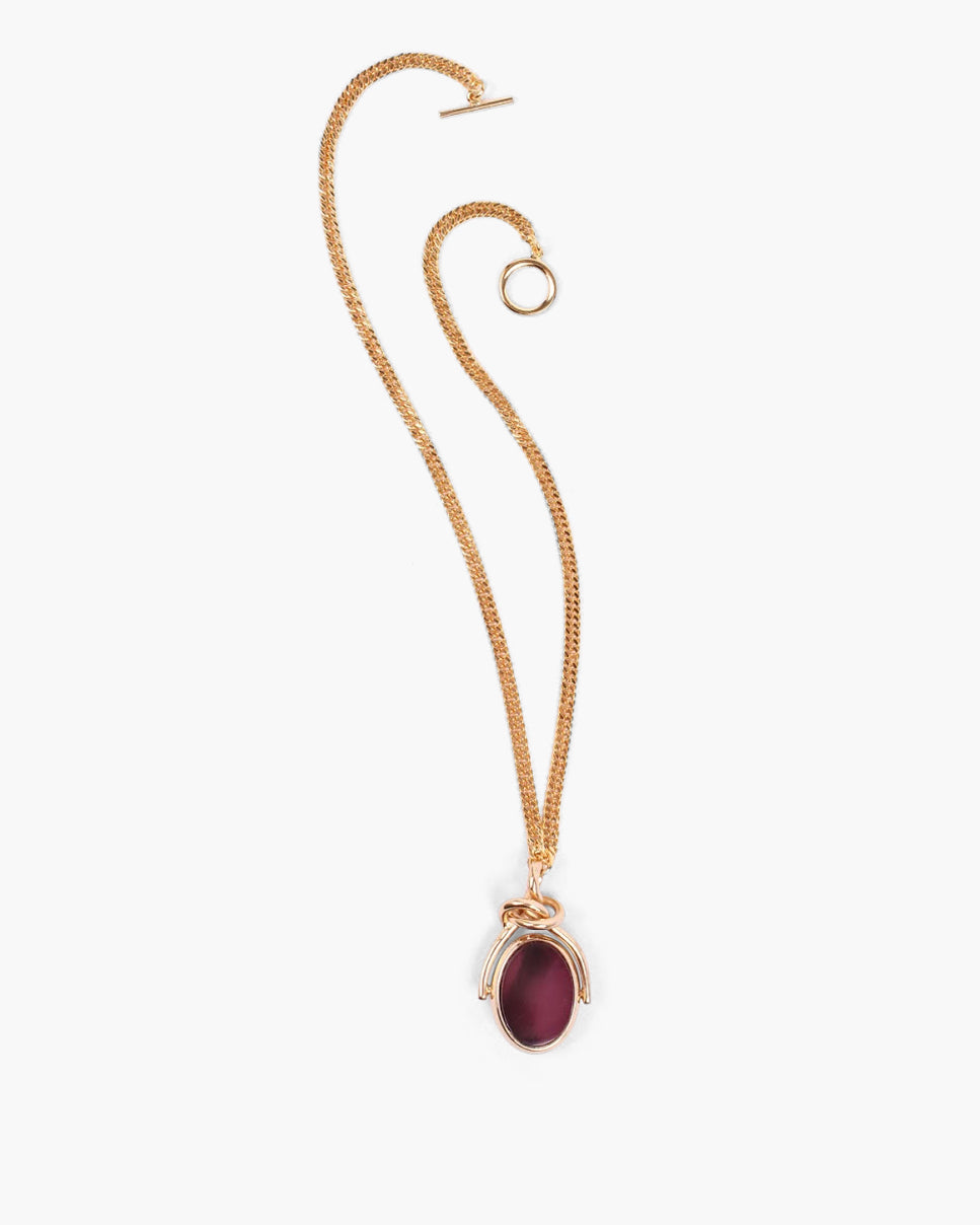 Knot Pendant with Thin Chain Gold Plated