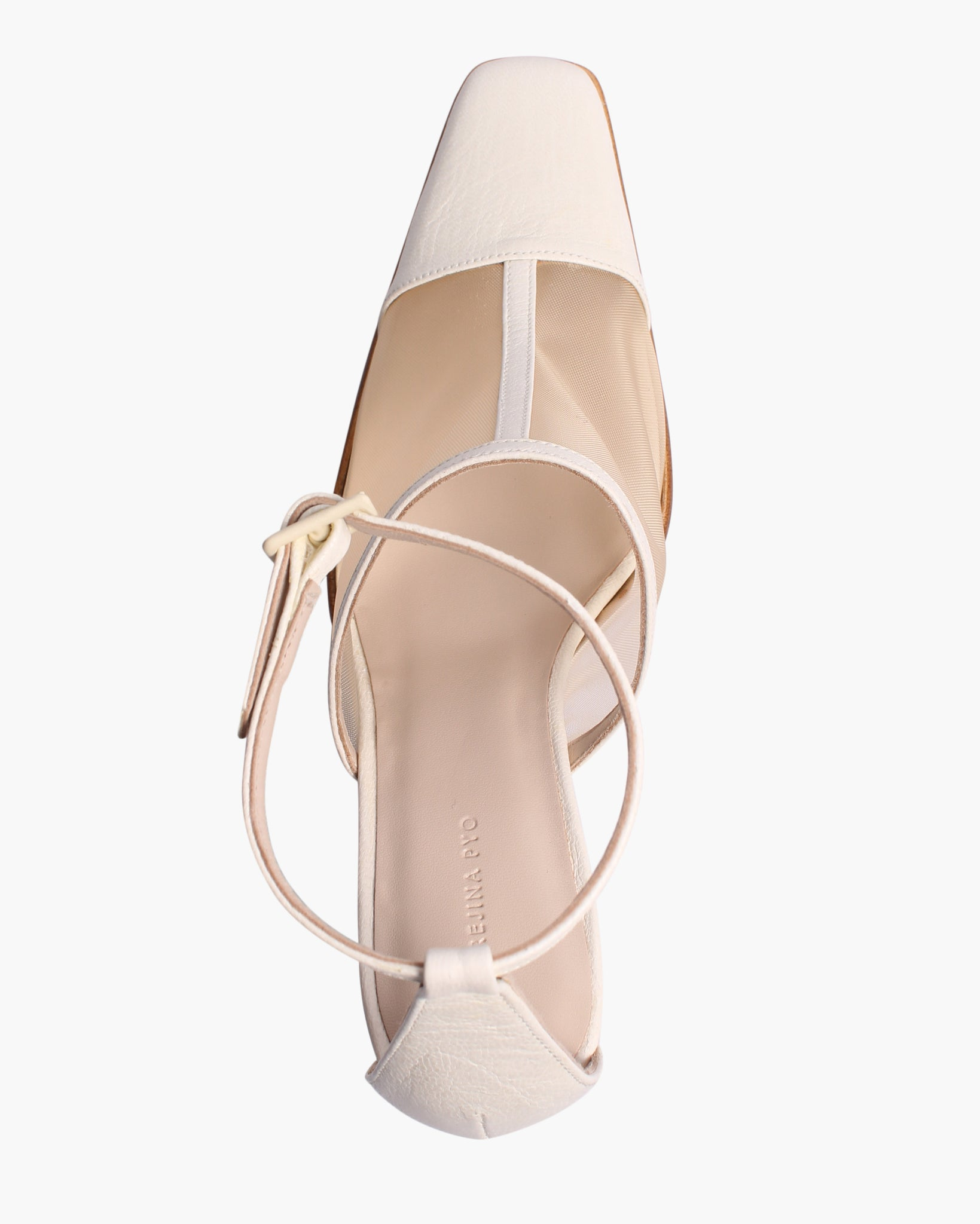 Estelle Heels Leather Mesh Ivory