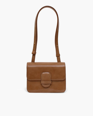 Harper Bag Small Patent Leather Brown