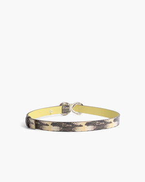Infinity Belt Leather Print Chury Snake