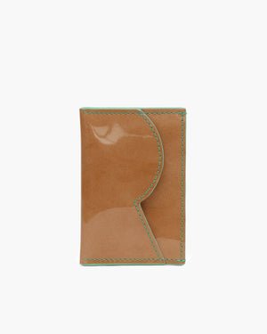 RP Card Holder Patent Leather Brown