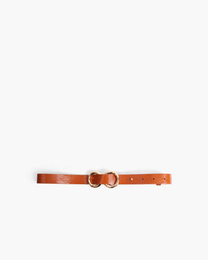 Infinity Belt Patent Leather Almond