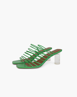Zoe Sandals Leather Green
