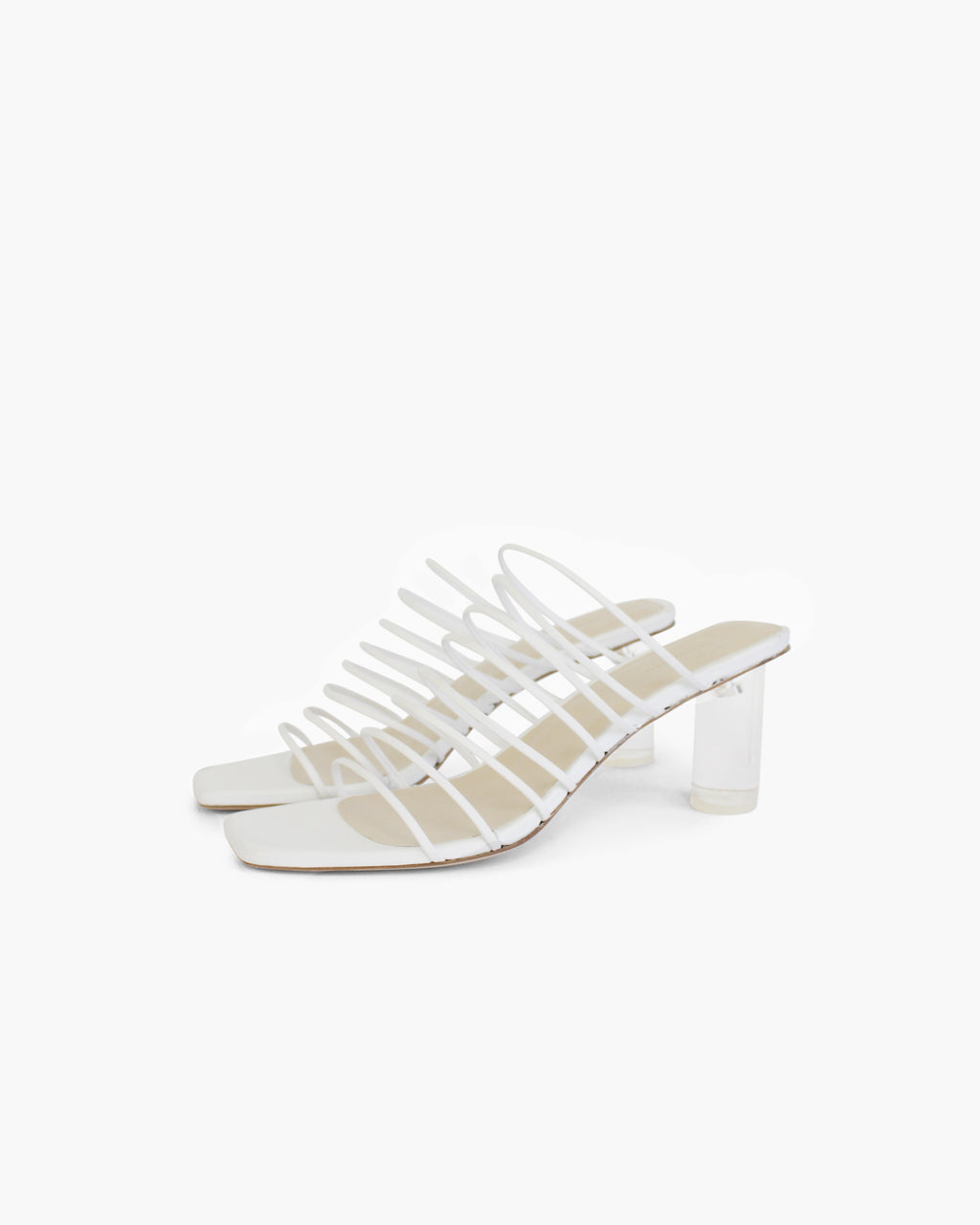 Zoe Sandals Leather White