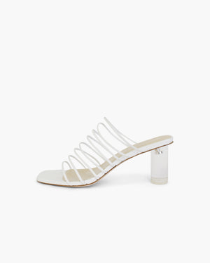 Zoe Heel Leather White