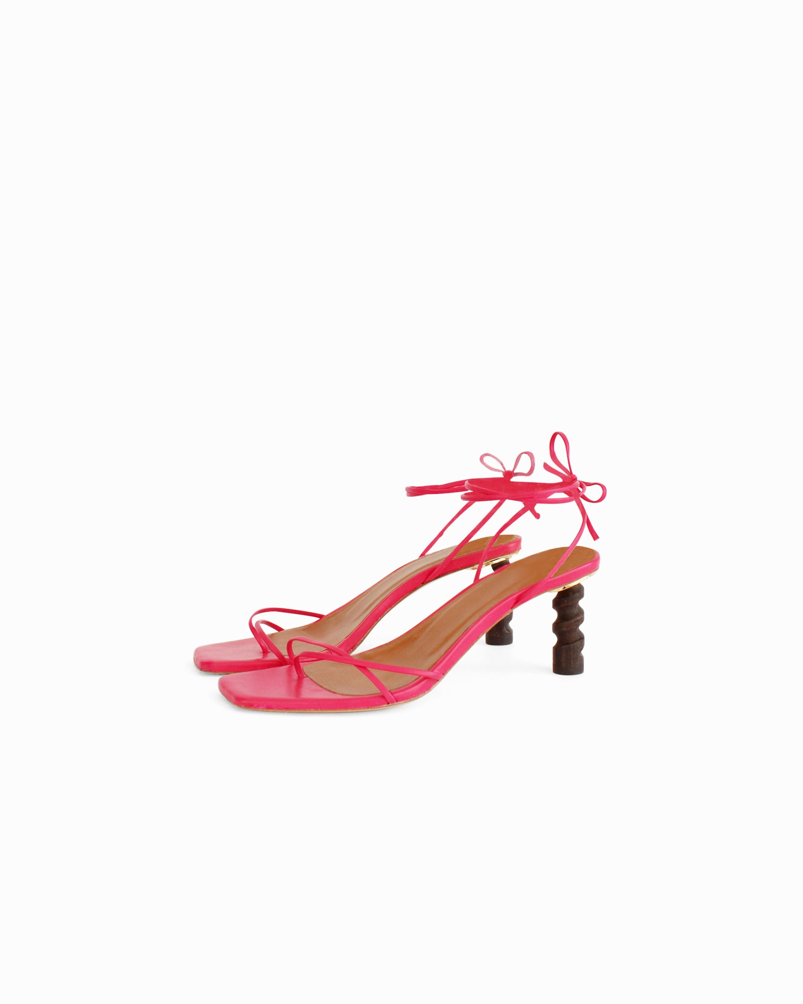 Doris Sandals Leather Magenta