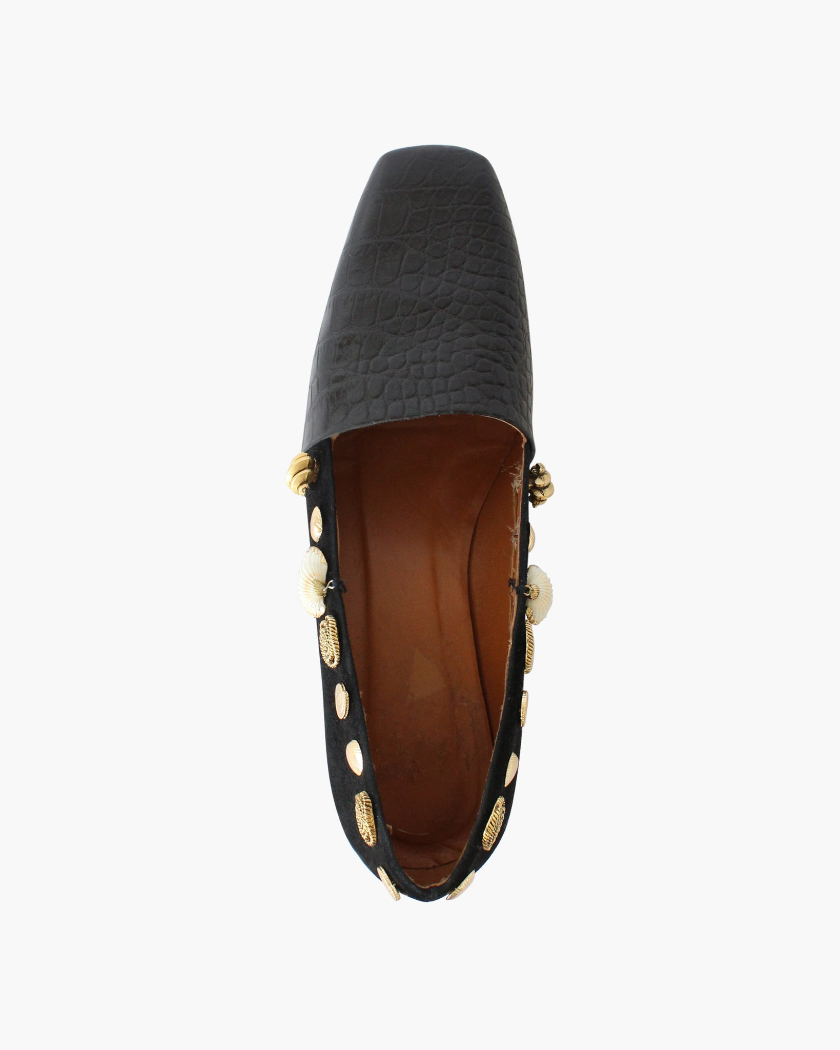 Cecilia Pump Leather Emboss and Suede Black