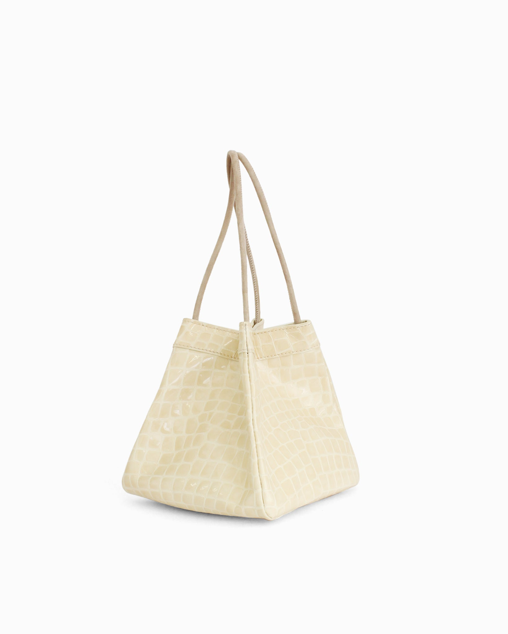 Rita Bag Leather Patent Croc Cream