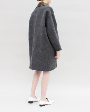 Lucia Reversible Coat Jacquard