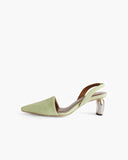 Conie Slingbacks Heels Suede Green