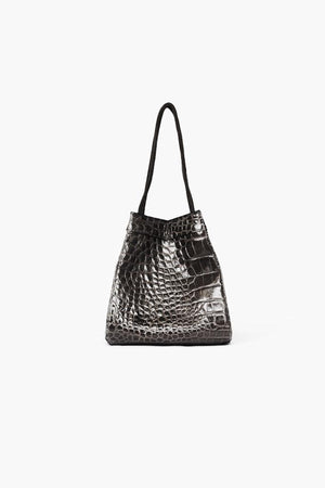 Rita Bag Leather Croc Black