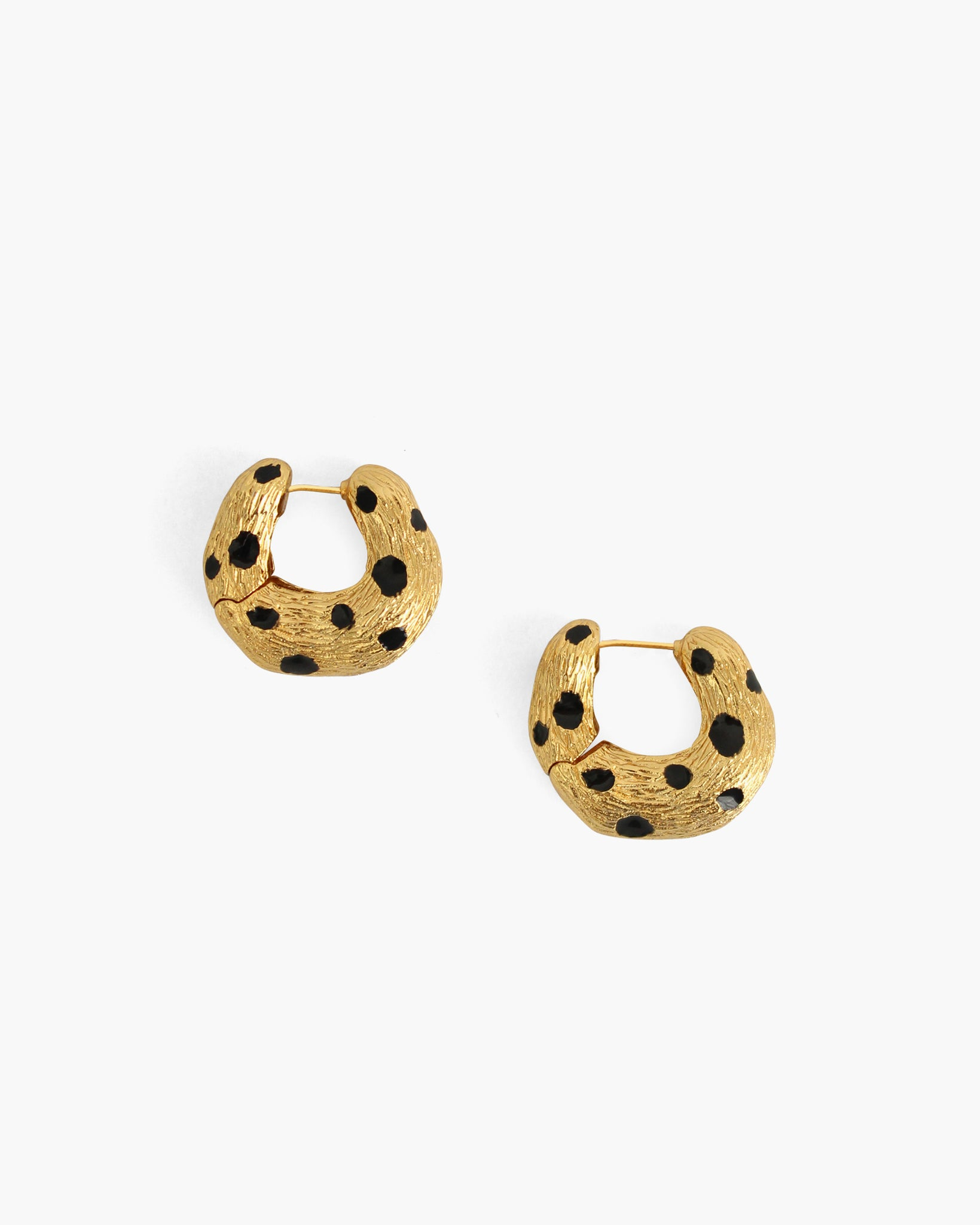 Iris Hoops Leopard Black