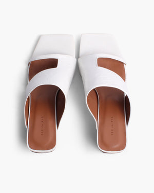 Leah Sandals Leather White