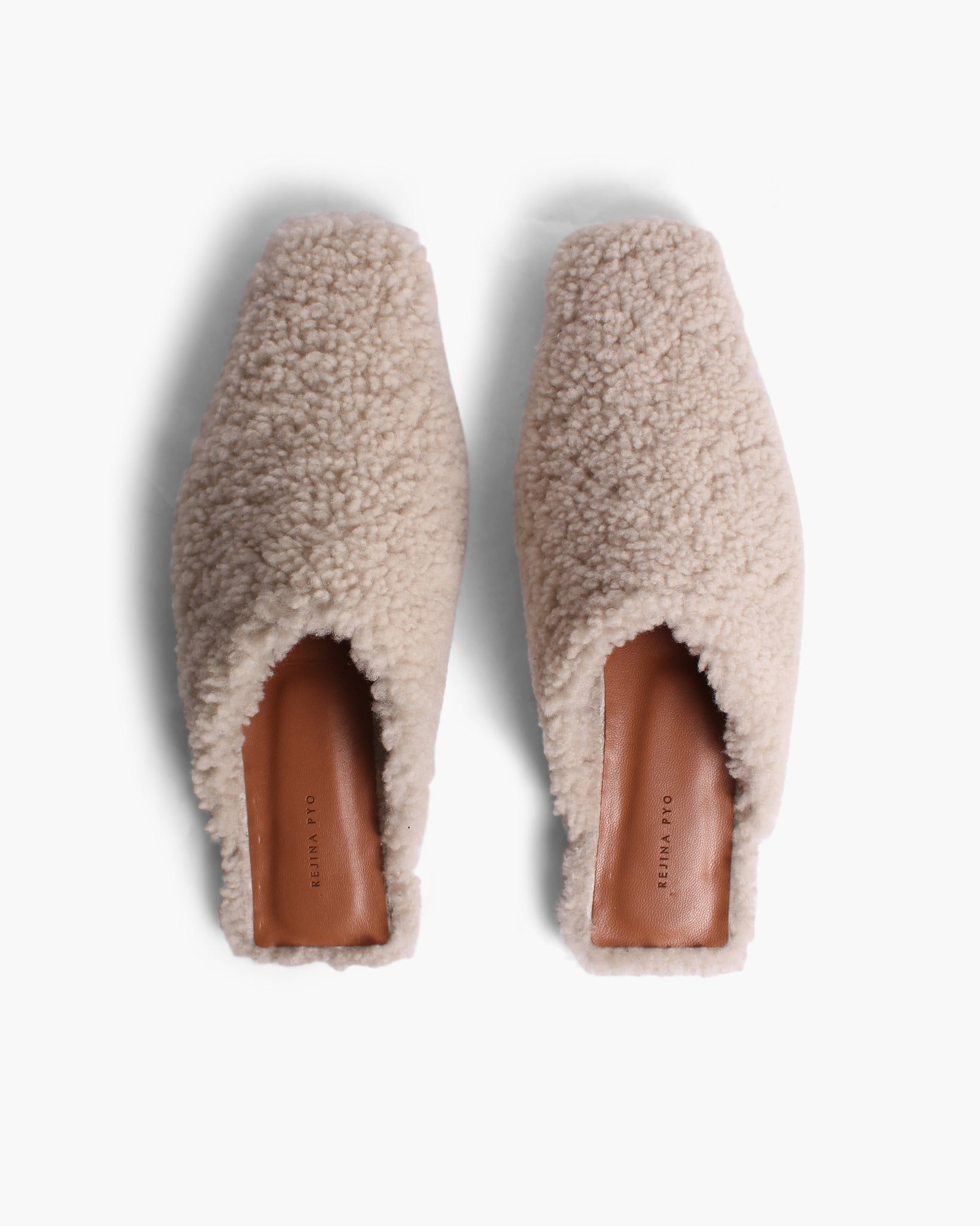 Leo Mules Shearling Ivory