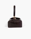 Olivia Box Bag Leather Lizard Deep Brown