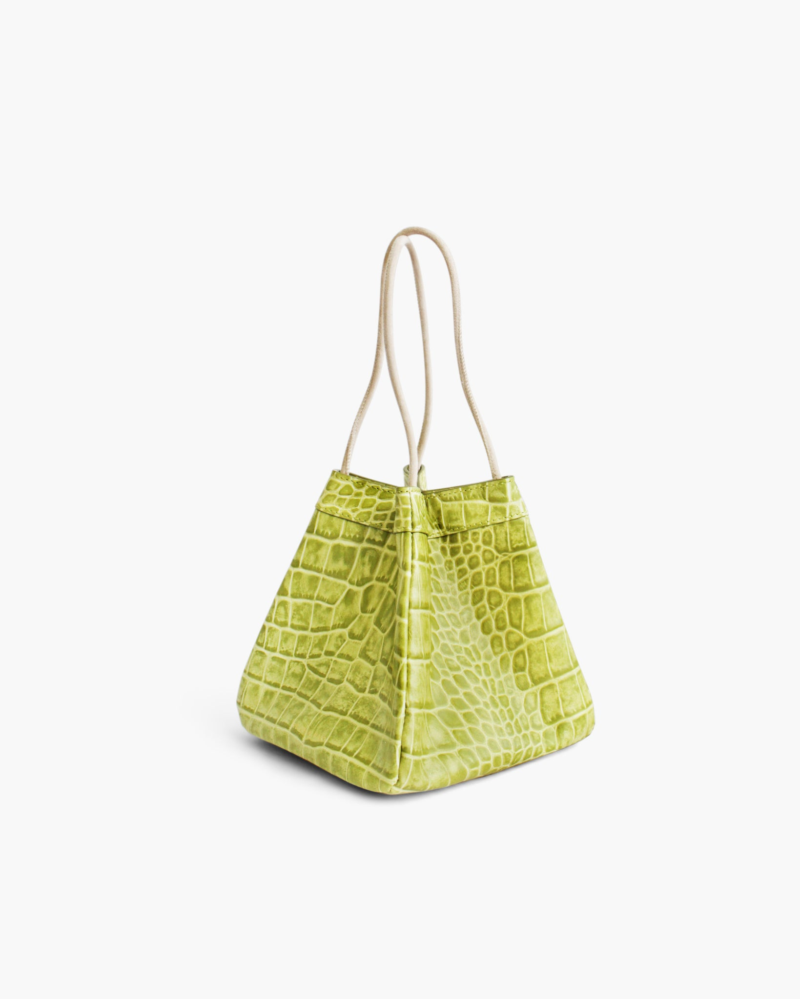 Rita Bag Leather Croc Green