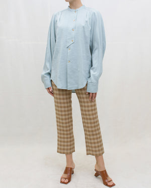 Finley Trousers Twill Check Camel + Orange + Green