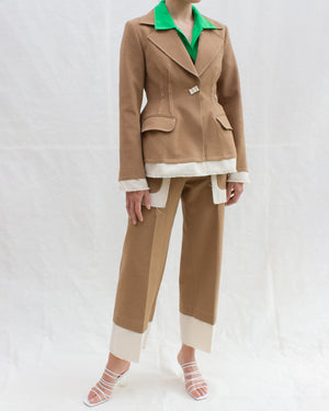Edith Jacket Cotton Camel + Italian Canvas Ecru - SPECIAL PRICE
